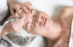 Microdermabraision is the process of using suction to increase circulation and bombarding your skin with small, perfectly circular crystals that smooth your skin.  The secret is that the process tricks the skin into thinking that it's being harmed, and lower levels of skin send collagen to repair the surface of your skin.  We offer microdermabraision for your face, decollete, back, arms, and hands.