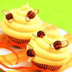 Beehive Cupcakes, Love the bee directions!