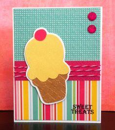 Cricut Doodlecharms Ice Cream Card