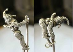 Extremely RARE C 1890 Mr Punch Climbs Pole as Seen in Book Silver Charm Fob | eBay