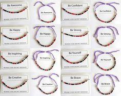 Morse Code Bracelet inspirational words