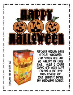 Halloween Graphing Freebie