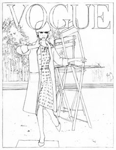 Steven Klein pour Vogue Paris - illustration de Cédric Rivrain