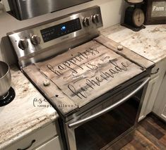 Happiness is homemade stove top cover / farmhouse stove top cover / noodle board / cover for stove / happiness is homemade noodle board - Bauernhaus Dekor Layout Design, Küchen Design, Interior Design, Coastal Interior, Design Desk, Library Design, Design Trends, Country Interior, Diy Interior