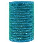 "2 1/2"" Peacock Feather Wired Edge Sheer Ribbon 