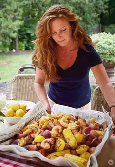 Shrimp Boil Shrimp Boil Lauren S Family Shrimp Boil Recipe Perfect For Holiday Weekends Family Gatherings And Summer Picnics Shrimp Boil An Easy Casual Gathering Think Make Share Seafood Boil Recipes, Seafood Dishes, Shrimp Recipes, Fish Recipes, Party Recipes, Recipies, Shrimp Meals, Shrimp Boil Party, Gourmet