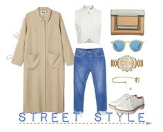 """Street Style"" by adswil ❤ liked on Polyvore featuring Miss Selfridge, Zara, Glamorous, Illesteva, Pierre Hardy, Michael Kors, Auden, Street, brogues and illesteva"