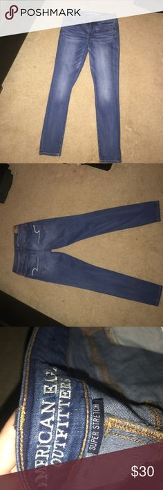 Brand new American eagle skinny jeans Brand new American eagle super stretch skinny jeans! Never worn. I have a Size 8 regular and a size 6 regular American Eagle Outfitters Jeans Skinny
