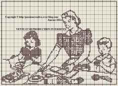Grille gratuite point de croix : Cuisine en famille