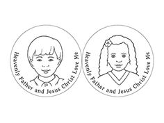 Heavenly Father and Jesus love me. Sunbeams coloring page