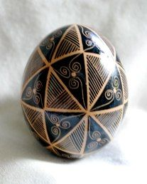 Sorokoklyn Brown Egg Pysanky
