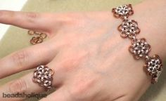 Free Japanese 12-in-2 Chain Maille  Bracelet and Ring Tutorial featured in Sova-Enterprises.com Newsletter!