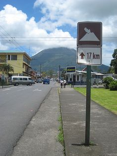 Volcán Arenal - Costa Rica walked these streets on our honeymoon. Stayed a block from where this picture was taken.