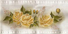 Pintura em toalha de rosto
