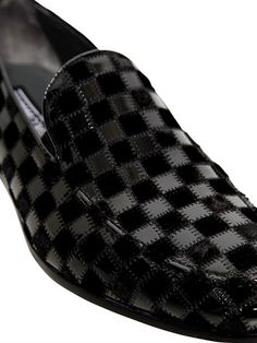 GIOVANNI CONTI - PATENT & VELVET PATCHWORK LOAFERS - LUISAVIAROMA - LUXURY SHOPPING WORLDWIDE SHIPPING - FLORENCE