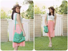 How great does our Nila Anthony Happy Guppie Satchel look with these pastel colors posted by Erica Leigh!