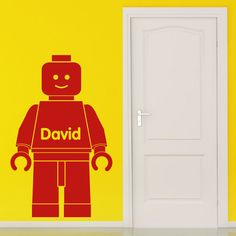 Lego Wall Sticker Personalised - 2 sizes 18 colour choices #WallGenie #TransfersStickersDecals