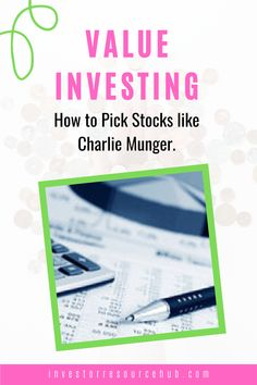Learn the different approaches to become a highly successful value investor by following the strategies of pioneer value investors like Warren Buffett's right-hand man Charlie Munger. Learn Stock Market, Stock Market Graph, Stock Market Basics, Stock Market For Beginners, Stock Market Investing, Best Way To Invest, Where To Invest, Value Investing, Investing Money