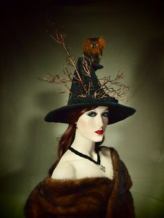 Couture Witch Hat Hootin'Tootin' 23 One of by EvercrumblyAndWitch, $99.00