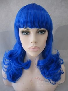 Katy Perry Blue Costume Wig Halloween Wigs/Party Wigs save $10, now $9.99