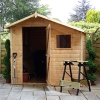 7x7 Tongue and Groove Offset Apex Shed
