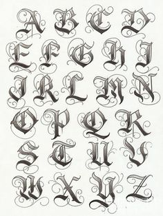 Tatto Ideas 2017 – lettering typographie calligraphie gothique majuscules… Tatto Ideas & Trends 2017 – DISCOVER lettering typography uppercase gothic calligraphy Discovred by: Constance Dvllr 2017 Lettering, Tattoo Lettering Fonts, Lettering Design, Hand Lettering, Calligraphy Tattoo, Gothic Lettering, Graffiti Lettering Fonts, Fonts For Tattoos, Chicano Tattoos Lettering