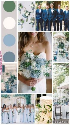 Ice blue and green spring wedding # ice blue .- Ice blue and green spring wedding # ice blue # spring wedding # green groom suit - Green Spring Wedding, Wedding Blue, July Wedding Colors, Spring Wedding Themes, Wedding Colors Green, Wedding Ideas Blue, Spring Weddings, Periwinkle Wedding, Unique Wedding Colors