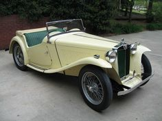 MG TC classic car. My mom had one of these and I loved riding in it. Still miss it