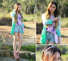 Ombre and Spikes (by Chloe T) http://lookbook.nu/look/3809085-Ombre-and-Spikes