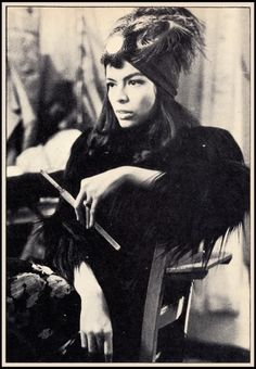 Bianca Jagger Feathered Turban