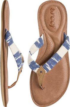 New padded flip flops by Reef. http://www.swell.com/Womens-Sandals/REEF-MYSTIC-SEAS-SANDAL?cs=BU