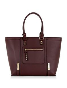 Any outfit can look smart with our Dark Red Structured Tote Bag on your arm. #newlook #bags
