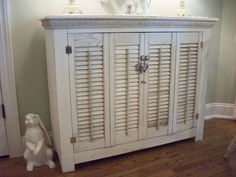 recycled old shutters