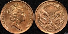 Australia 1989 5 cent coin struck on 1 cent planchet error Coins Worth Money, Coin Worth, Thing 1, Error Coins, Echidna, Uncirculated Coins, 5 Cents, Rare Coins, Coin Collecting