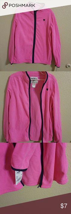 Osh Kosh NWT Girls Full Zip  Fleece Jacket Adorable Pink with Blue Accents NWT Osh Kosh Full Zip Fleece Jacket Girls Size 10 Super Soft and Comfy, lightweight OshKosh B'gosh Jackets & Coats