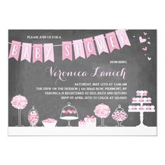 Sweet Treats | Baby Shower Invitation Bridal Shower Cards, Bridal Shower Invitations, Champagne Brunch, Classic Artwork, Papers Co, Rsvp, Sweet Treats, Baby Shower Candy, Cat Lovers