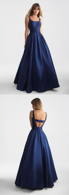 a-line navy blue long prom/evening dress #prom #promdresses #promdress #eveningdress #eveningdresses