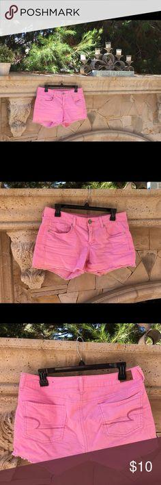 American eagle shorts Super cute pink stretch pink shorts American Eagle Outfitters Shorts