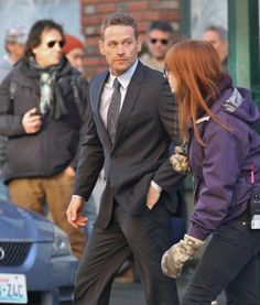 Max Martini (Taylor) on the set of Fifty Shades of Grey