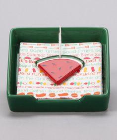 Green Ceramic Napkin Holder