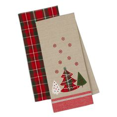 Merry Christmas Tree Dishtowel Set of 2  || Wholesale Gifts and Holiday Decor @ www.designimports.com