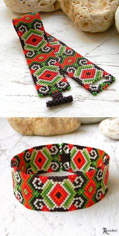 Peyote Bracelet beaded bracelet by Anabel27shop on Etsy                                                                                                                                                     More