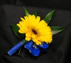 Gerbera Daisy Boutonniere - but in orange