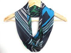 chevron summer fashion infinity scarf, girly loop circle scarves,navy blue green gray aqua .... colorful via Etsy