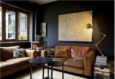tan sofa colourful pillows bhg - Decorating With Tan Leather Sofa