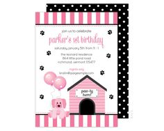 Puppy Party Invitation Puppy Birthday Invitation by PaigeSimple