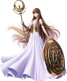 """Greek Olympian Goddess Athena of Wisdom"". by art Saint Seiya ? Anime Sexy, Fantasy Characters, Female Characters, Manga Comics, Marvel Comics, Anime Saint, Wallpaper Animé, Manga Anime, Knights Of The Zodiac"