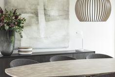 Semi ovale tafel in kops eiken - http://www.abitare.be/
