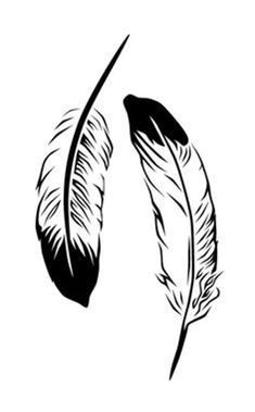 Feather Clip Art, Feather Stencil, Feather Template, Feather Drawing, Feather Vector, Eagle Feather Tattoos, Eagle Feathers, Black And White Prints, Black And Grey Tattoos