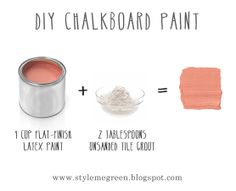 Style Me Green: HOW TO MAKE YOUR OWN CHALKBOARD PAINT. Can be made vegan with Mythic paint!